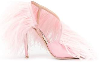 Giambattista Valli feather embellished pumps
