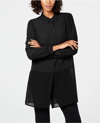 Alfani Sheer-Hem Tunic, Created for Macy's