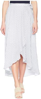 Tribal 37 Woven Crepe Long Wrap Skirt in White Women's Skirt