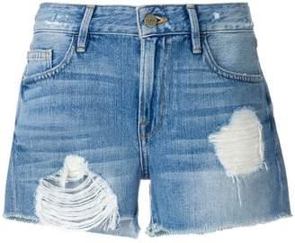 Frame distressed shorts