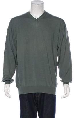 Luciano Barbera Cashmere-Blend V-Neck Sweater