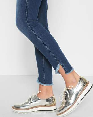 7 For All Mankind Ankle Skinny with Angeled Raw Hem in 5th Ave