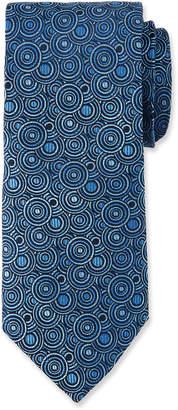 Duchamp Circle Pattern Silk Tie