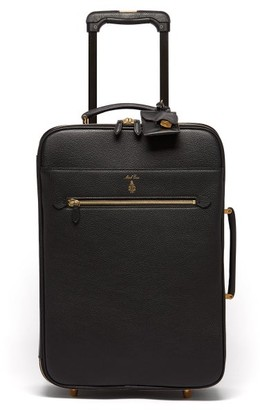 Mark Cross Grained Leather Cabin Suitcase - Womens - Black