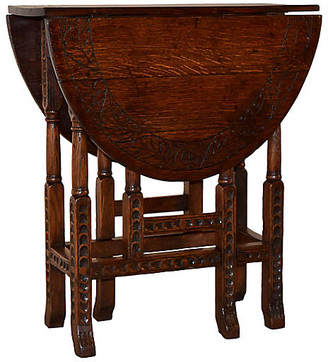 One Kings Lane Vintage 19th-C. English Gate-Leg Table - Black Sheep Antiques