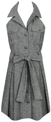 Pleated Vest Dress