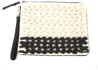 Love Stitch Lovestitch Rope Embroidered Clutch