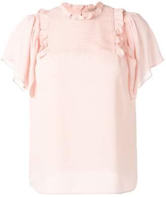Twin-Set ruffle short sleeve blouse