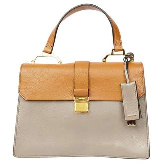 Miu Miu Madras Camel Leather Handbag