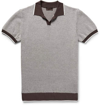 Altea Slim-fit Textured-cotton Polo Shirt