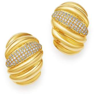 Bloomingdale's Pavé Diamond Statement Earrings in 14K Yellow Gold, 0.90 ct. t.w. - 100% Exclusive