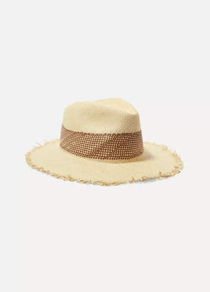 Rag & Bone Frayed Straw Panama Hat - Beige