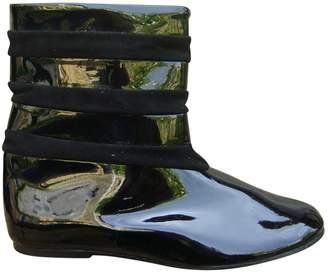 Les Prairies de Paris Patent Leather Boots