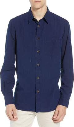 French Connection Indigo Dot Regular Fit Sport Shirt