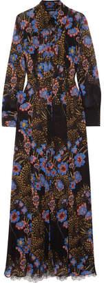 Etro Lace And Printed Silk-chiffon Shirt And Dress Set - Black