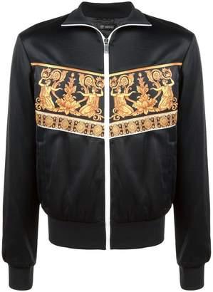 Versace panelled print bomber jacket