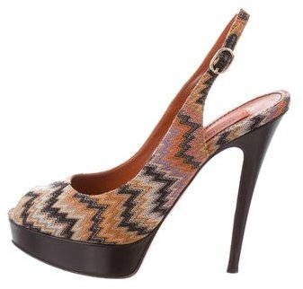 Missoni Chevron Slingback Sandals