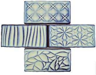 EliteTile SAMPLE - Antiqua Sensations Ceramic Subway Tile in Blue