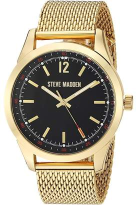 Steve Madden Dial Mesh Band Watch Watches