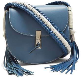 Altuzarra Ghianda Braided Cross Body Bag - Womens - Blue White