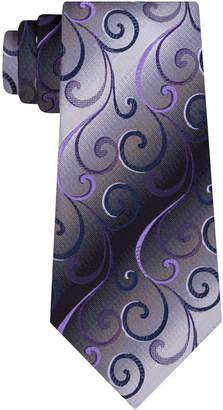 Van Heusen Men Swirly Vines Silk Tie