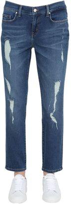 Gigi Hadid Destroyed Boyfriend Jeans $200 thestylecure.com