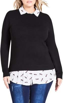 City Chic Corvette Sweater