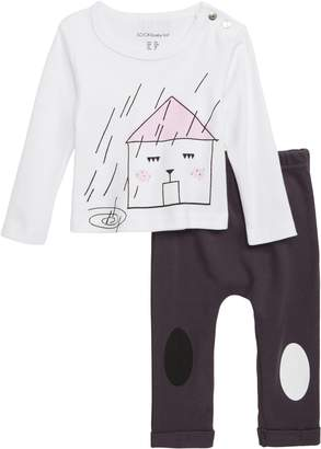 SOOKIbaby House Graphic Long Sleeve Tee & Leggings Set