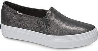 Keds Women's Triple Decker Metallic Linen Sneaker