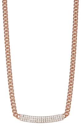 Swarovski 18K Rose Gold Vio Crystal Bar Pendant Necklace