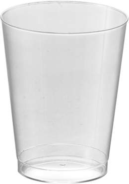 clear Kaya Collection - Disposable Round Hard Plastic Cups Tumblers 10oz (40 Cups)