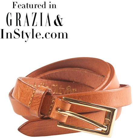 Isabella Oliver Skinny Leather Belt