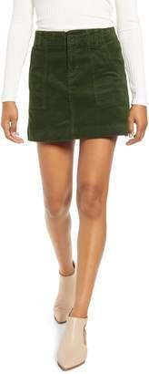 1822 Denim Corduroy A-Line Miniskirt