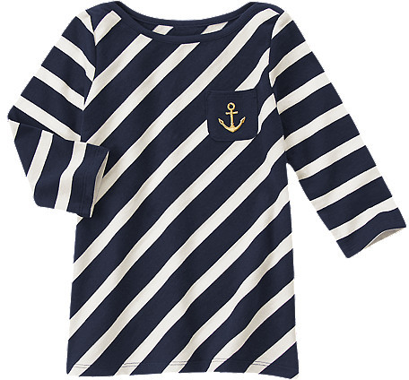 Gymboree Striped Anchor Pocket Tee
