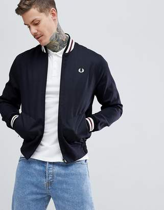 Fred Perry Reissues made in england tennis bomber jacket in black