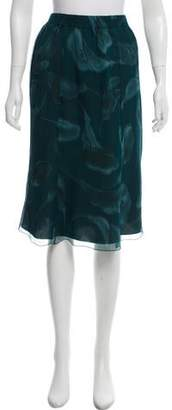 Nina Ricci Knee-Length Silk Skirt
