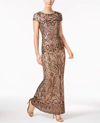 Betsy & Adam Sequined Gown $309 thestylecure.com