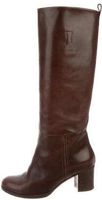 A.P.C. Leather Knee-High Boots $110 thestylecure.com
