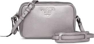 Prada logo zipped shoulder bag