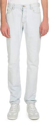 Maison Margiela Men's 5-Pocket White-Wash Jeans