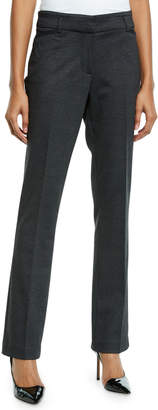 Neiman Marcus Teagan Glen Plaid Flared Trouser