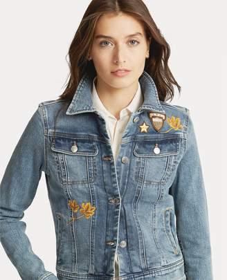 Ralph Lauren Embroidered Patch Denim Jacket