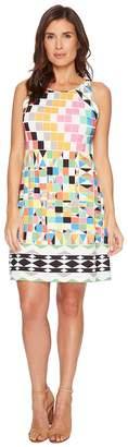 Hale Bob Check Yourself Matte Microfiber Jersey Dress Women's Dress