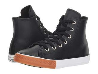 Converse Chuck Taylor(r) All Star(r) Leather - Hi (Little Kid/Big Kid)