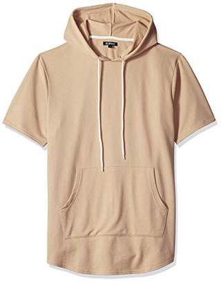 Elwood Clothing Men's Short Sleeve Curved Hem Hoodie