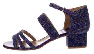 Laurence Dacade Glitter Ankle Strap Sandals w/ Tags Purple Glitter Ankle Strap Sandals w/ Tags