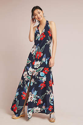 Yumi Kim Silk Hibiscus Maxi Dress