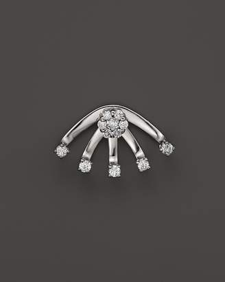 KC Designs Diamond Stud Earring with Jacket in 14K White Gold