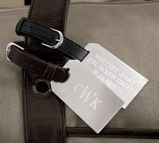 Pottery Barn Silver-Plated Engravable Luggage Tag