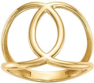 14K Gold Interlocking Circle Ring